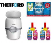 Thetford 565P Toilet (Manual Flush) + 2 Twin Pack Chemical + Aqua Soft